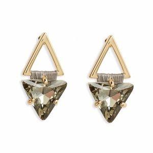 NEW Rebecca Minkoff Black Crystal earrings